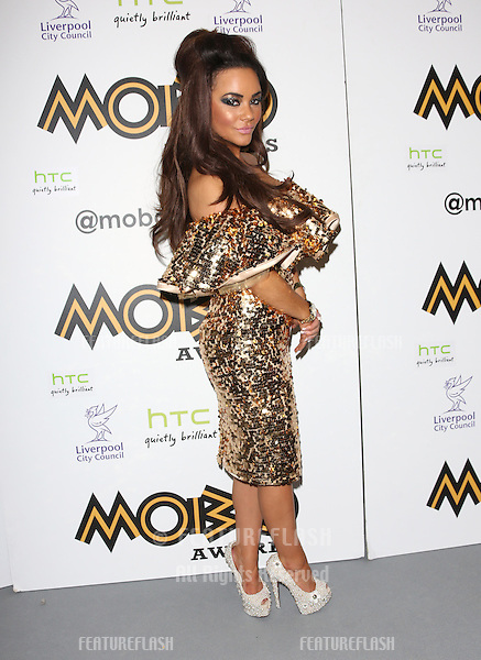 Chelsee Healey in the press room for The MOBO awards 2012 held at the Echo Arena, Liverpool. 03/11/2012 Picture by: Henry Harris / Featureflash
