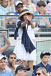 Mai Tanaka, JUNE 22, 2014 - MLB : Mai Tanaka, wife of Masahiro Tanaka of the New York Yankees, watches during the Major League Baseball game against the Baltimore Orioles at Yankee Stadium in the Bronx, NY, USA. (Photo by AFLO)