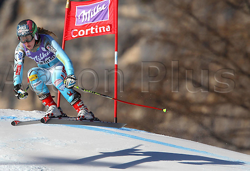 13.01.2012 Cortina D Ampezzo, Italy. The Ski Alpine FIS World Cup Downhill Training for women Picture shows Laurenne Ross USA