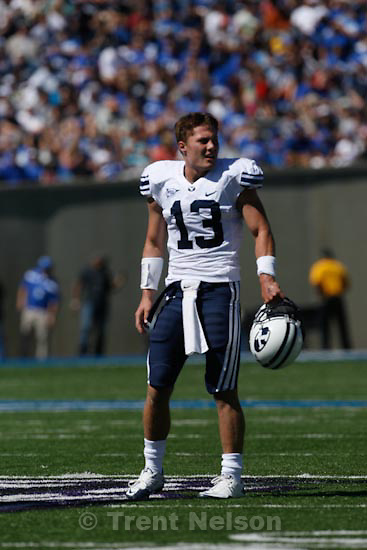 Trent Nelson  |  The Salt Lake Tribune.BYU quarterback Riley Nelson in the first quarter as BYU faces Air Force at the Air Force Academy, college football Saturday, September 11, 2010.