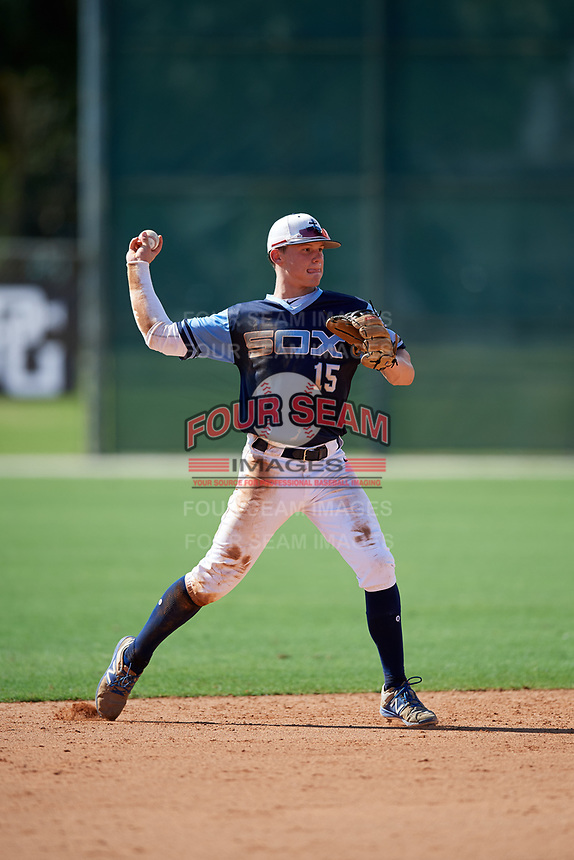 Bobby Witt during the WWBA World Championship at the Roger Dean Complex on October 18, 2018 in Jupiter, Florida.  Bobby Witt is a shortstop from Colleyville, Texas who attends Colleyville Heritage High School and is committed to Oklahoma.  (Mike Janes/Four Seam Images)