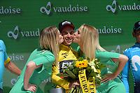 17th June 2018, Tour De Suisse; stage 9 from Bellinzona to Bellinzona;  Bmc Racing Team; Porte, Richie; in Bellinzona with his winners trophy