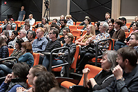 "Occidental College's thought-provoking Third L.A. series presents, ""L.A. House and Home: New Paths in Housing Policy and Residential Architecture"" on Monday, December 2, 2019 in Choi Auditorium and moderated by Christopher Hawthorne, Oxy professor of practice and Chief Design Officer, Design Office, the Mayor's Office of Economic Development.<br /> This 3rd L.A. event brought together policymakers and leading architects as they discussed and summarized L.A.'s homelessness, housing affordability and single-family zoning, which are squarely at the top of the policy agenda across California. Furthermore, Los Angeles is engaged in a growing national conversation around the relationship between good design and good housing and the legacies of redlining and exclusionary zoning.<br /> (Photo by Marc Campos, Occidental College Photographer)"