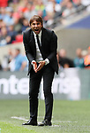 Chelsea's Antonio Conte in action during the premier league match at the Wembley Stadium, London. Picture date 20th August 2017. Picture credit should read: David Klein/Sportimage
