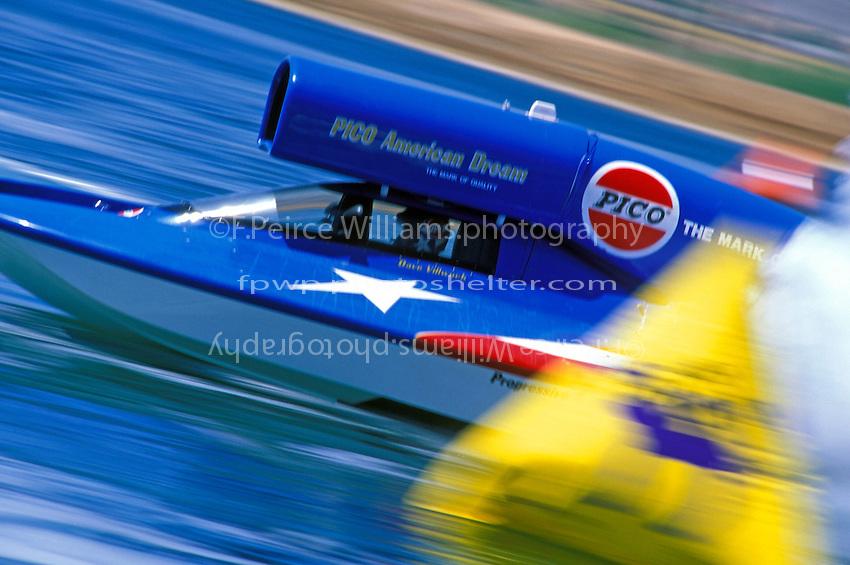 "Dave Villwock, U-100 ""Pico American Dream"" Phoenix, AZ 1996  (Unlimited Hydroplanes)"