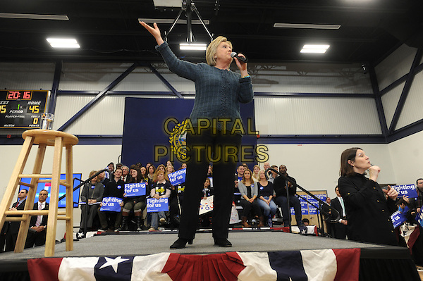 PORTSMOUTH, NH - FEBRUARY 6: Hillary Clinton, former Secretary of State and 2016 Democratic presidential candidate, speaks during a campaign event in Portsmouth, New Hampshire on February 6, 2016. <br /> CAP/MPI01<br /> &copy;MPI01/Capital Pictures