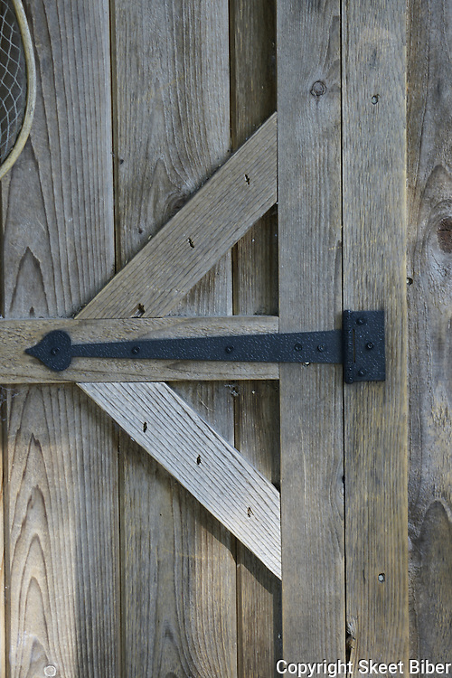Wrought iron door hinge