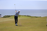 Ross Fisher (ENG) plays his 2nd shot on the 6th hole during Thursday's Round 1 of the Dubai Duty Free Irish Open 2019, held at Lahinch Golf Club, Lahinch, Ireland. 4th July 2019.<br /> Picture: Eoin Clarke | Golffile<br /> <br /> <br /> All photos usage must carry mandatory copyright credit (© Golffile | Eoin Clarke)