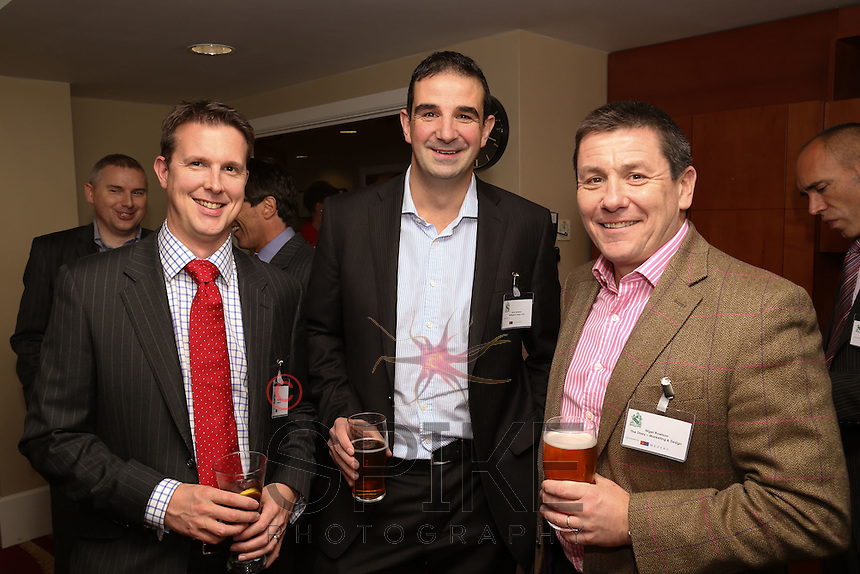 Left to right are Alan Smith of Gaterly, Simon Beatham of Nottingham Rugby Club and NigelRowlson of The Dairy Marketing and Design