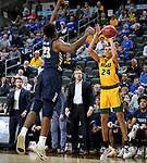 SIOUX FALLS, SD - MARCH 8: Tyson Ward #24 of the North Dakota State Bison shoots a jumper against the Oral Roberts Golden Eagles at the 2020 Summit League Basketball Championship in Sioux Falls, SD. (Photo by Dave Eggen/Inertia)