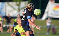 Kansas City, MO - Saturday June 25, 2016: Merritt Mathias, Alex Arlitt during a regular season National Women's Soccer League (NWSL) match at Swope Soccer Village.