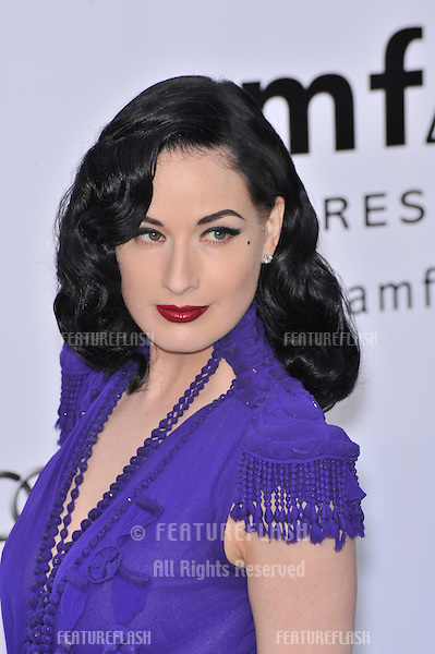 Dita von Teese at amfAR's Cinema Against AIDS 2008 Gala at Le Moulin de Mougins restaurant. The event is part of  the 61st Annual International Film Festival de Cannes. .May 22, 2008  Cannes, France..Picture: Paul Smith / Featureflash