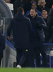 Aston Villa assistant head coach and Chelsea's head coach Frank Lampard shake hands after the Premier League match at Stamford Bridge, London. Picture date: 4th December 2019. Picture credit should read: Paul Terry/Sportimage