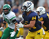 Angelo Petrakis #24 of Massapequa rushes for a gain during a Nassau County Conference I varsity football game against Farmingdale at Massapequa High School on Saturday, Sept. 22, 2018. Farmingdale won by a score of 41-27.
