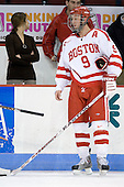 Ryan Weston (BU - 9) - The Boston University Terriers defeated the University of Maine Black Bears 1-0 (OT) on Saturday, February 16, 2008 at Agganis Arena in Boston, Massachusetts.