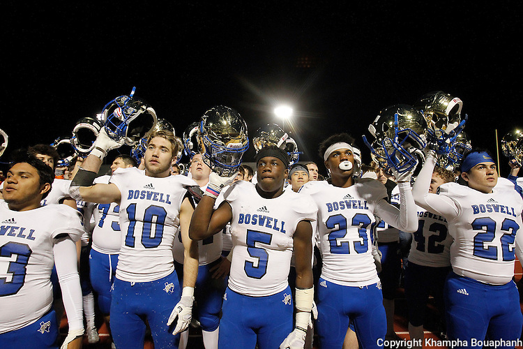 Boswell defeats Dunbar 30-12 in 5A high school football area playoff at Ranger Stadium in Fort Worth on Friday, November 18, 2016.