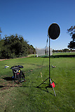 Lighting set up for photographing Stanford employee, Alan Hebert practicing for the Scottish Highland Games held in Alameda, California.
