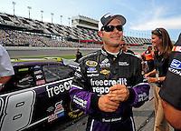 Jul. 4, 2008; Daytona Beach, FL, USA; NASCAR Sprint Cup Series driver David Gilliland during qualifying for the Coke Zero 400 at Daytona International Speedway. Mandatory Credit: Mark J. Rebilas-
