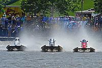(L to R):Rob Rinker, (#10), Butch Ott, (#78) and Mark Schmerbach, (#6) (SST-45 class)