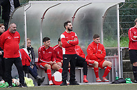 Der neue Trainer Francisco Ortega mit seinem Interims Co-Trainer Claudio Pascai (l.) - Büttelborn 03.11.2019: SKV Büttelborn vs. SV 07 Nauheim, Gruppenliga Darmstadt