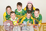 QUIZ TEAM: The Abbeydorney/Kilflynn U14 Quiz Team going over the quiz books at the Abbeydorney Community Centre on Monday, in preparation for the Community Games All Ireland Final. Seated front: Gary Neenan and Seamus White. Back l-r: Alison Shanahan, Neil Beirne, Katie Brassil and Shane Hayes..