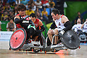 Daisuke Ikezaki (JPN), <br /> SEPTEMBER 16, 2016 - WheelChair Rugby : <br /> Pool Phase Group B <br /> match USA 57-56 Japan <br /> at Carioca Arena 1<br /> during the Rio 2016 Paralympic Games in Rio de Janeiro, Brazil.<br /> (Photo by AFLO SPORT)