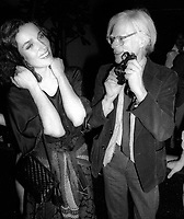 1978 <br /> New York City<br /> Margaret Trudeau Andy Warhol/Studio 54<br /> Credit: Adam Scull-PHOTOlink/MediaPunch