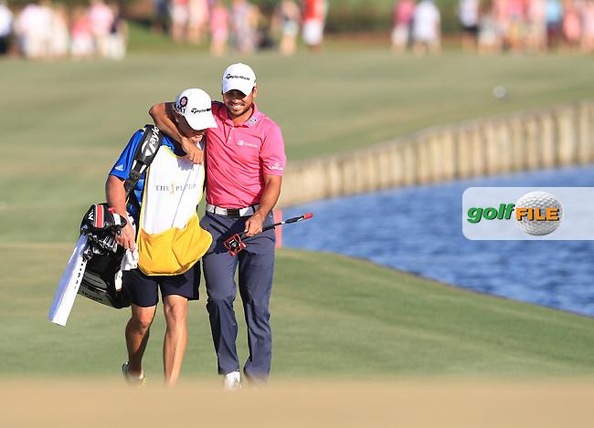 Jason Day (AUS) and Caddie Colin Swatton Champion of The Players 2016 , TPC Sawgrass, Ponte Vedra Beach, Jacksonville.   Florida, USA. 15/05/2016.<br /> Picture: Golffile | Mark Davison<br /> <br /> <br /> All photo usage must carry mandatory copyright credit (&copy; Golffile | Mark Davison)