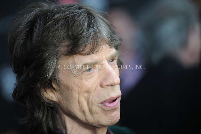 WWW.ACEPIXS.COM . . . . . .November 13, 2012...New York City....Mick Jagger attends 'The Rolling Stones Crossfire Hurricane' Premiere at Ziegfeld Theater on November 13, 2012 in New York City ....Please byline: KRISTIN CALLAHAN - ACEPIXS.COM.. . . . . . ..Ace Pictures, Inc: ..tel: (212) 243 8787 or (646) 769 0430..e-mail: info@acepixs.com..web: http://www.acepixs.com .