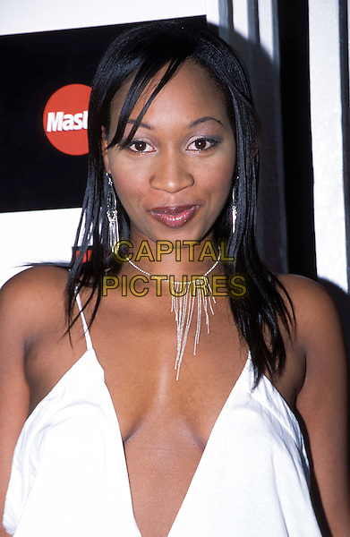 TERRI WALKER.Mobo Awards Launch Party at Tantra.cleavage, necklace, plunging neckline.www.capitalpictures.com.sales@capitalpictures.com.© Capital Pictures
