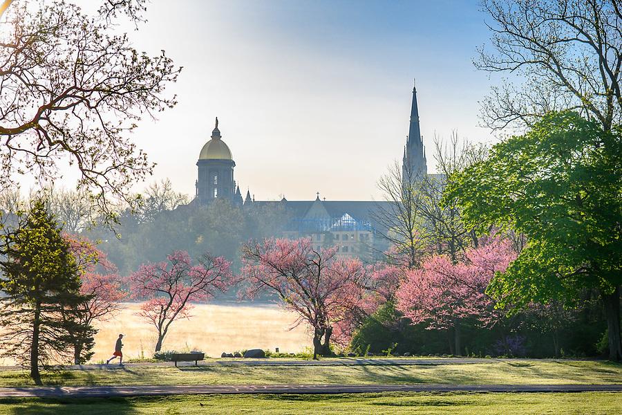 May 14, 2019; Sunrise over St. Mary's Lake (Photo by Matt Cashore/University of Notre Dame)