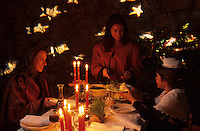 """Europe/France/Provence-Alpes-Côte d'Azur/13/Bouches-du-Rhône/Orgon : Souper de Noël provençal au restaurant """"Côté Jardin"""" [Autorisation : 27-28-29]"""