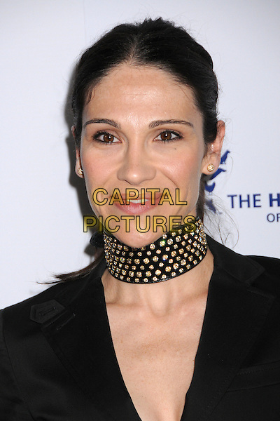 TIMILEE ROMOLINI.22nd Annual Genesis Awards at the Beverly Hilton Hotel, Beverly Hills, California, USA..March 29th, 2008.headshot portrait necklace choker black gold studs studded .CAP/ADM/BP.©Byron Purvis/AdMedia/Capital Pictures.