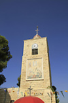 Israel, the tower at the gate to the Greek Orthodox Monastery of the Transfiguration and the Church of St. Elias on Mount Tabor