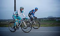 Gent-Wevelgem 2013.Johan Vansummeren (BEL) & Assan Bazayev (KAZ)