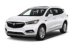 2018 Buick Enclave Premium 5 Door SUV angular front stock photos of front three quarter view