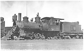 RGS 2-8-0 #10 in deadline at Alamosa.<br /> RGS  Alamosa, CO  Taken by Perry, Otto C. - 6/6/1923