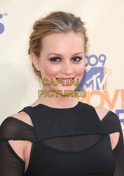 LEIGHTON MEESTER .The 2009 MTV Movie Awards held at Universal Ampitheatre  in Universal City, California, USA..May 31st, 2009 .headshot portrait black cut out away .CAP/DVS.©Debbie VanStory/Capital Pictures.