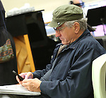 """Robert De Niro during the open press rehearsal for """"A Bronx Tale - The New Musical""""  at the New 42nd Street Studios on October 21, 2016 in New York City."""