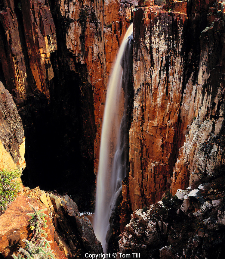 Waterfall, Salt River Canyon, Arizona  One of the highest waterfalls in the West    Rainfall waterfall over 500 feet high