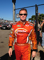 Feb 10, 2008; Daytona Beach, FL, USA; Nascar Sprint Cup Series driver Kenny Wallace during qualifying for the Daytona 500 at Daytona International Speedway. Mandatory Credit: Mark J. Rebilas-US PRESSWIRE