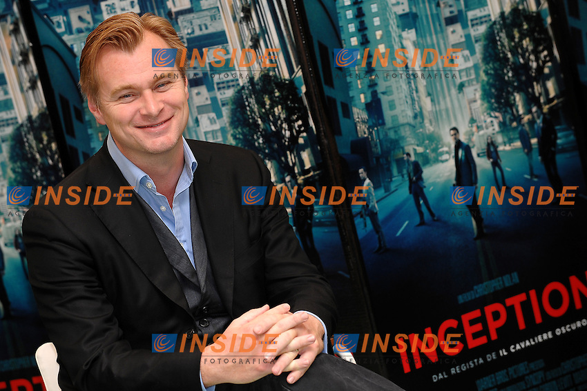Christopher NOLAN Film Director.Roma 21/9/2010 Hotel HASSLER.Inception - Photocall.Foto Andrea Staccioli Insidefoto