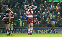 Picture by Allan McKenzie/SWpix.com - 13/04/2018 - Rugby League - Betfred Super League - Leeds Rhinos v Wigan Warriors - Headingley Carnegie Stadium, Leeds, England - Wigan's Oliver Gildart scored his side's only try over Leeds.