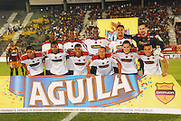IBAGUÉ -COLOMBIA, 23-01-2006. Jugadores de  Deportivo Independiente Medellin  posan para una foto previo al encuentro con Deportivo Deports  por la fecha 3 de la Liga Aguila I 2015 jugado en el estadio Manuel Murillo Toro de la ciudad de Ibagué./ Players of  Deportes Tolima pose to a photo prior the match agaisnt Deportivo Independiente Medellin for the third date of the Aguila League I 2015 played at Manuel Murillo Toro stadium in Ibague city. Photo: VizzorImage/STR