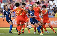 Sandy, Utah - Thursday June 07, 2018: McCall Zerboni during an international friendly match between the women's national teams of the United States (USA) and China PR (CHN) at Rio Tinto Stadium.