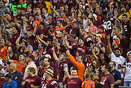 Landover, MD - September 3, 2017: Virginia Tech Hokies fans during game between Virginia Tech and WVA at  FedEx Field in Landover, MD.  (Photo by Elliott Brown/Media Images International)