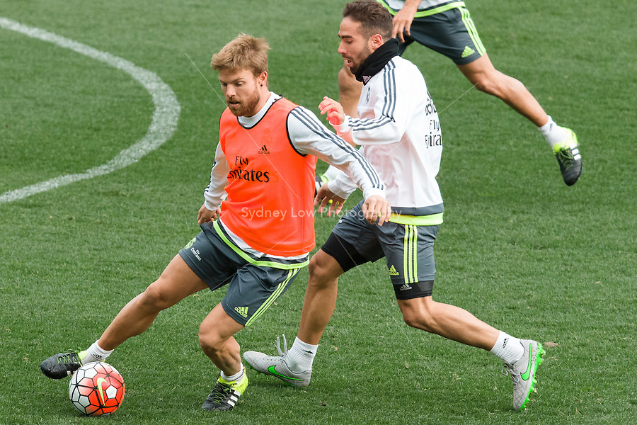Melbourne, 14 July 2015 - Asier Illarramendi at an open training session of Real Madrid before their match against AS Roma at the 2015 International Champions Cup in Melbourne, Australia. Photo Sydney Low/AsteriskImages.com