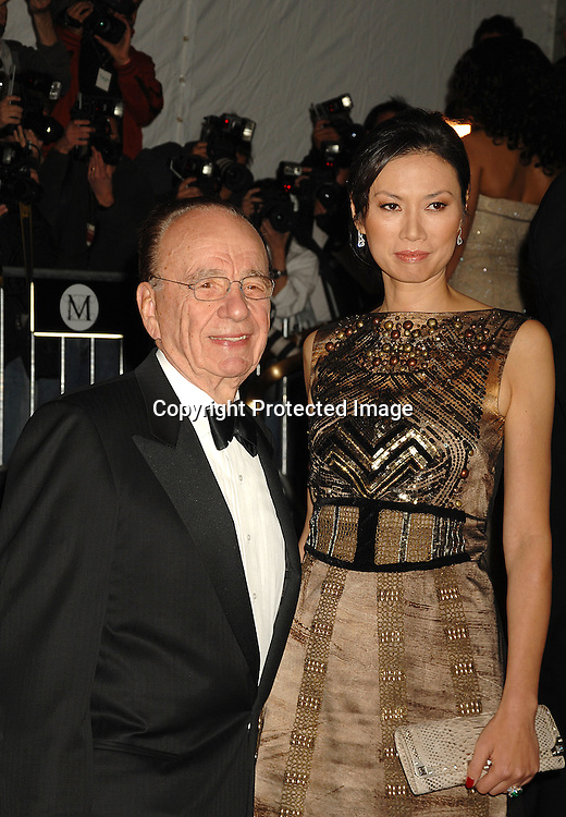 Rupert Murdoch and wife Wendy..arriving at The Metropolitan Museum of Art's Costume Institute Gala on May 7, 2007 in New York City. The Gala celebrates the exhibition: Poiret: King of Fashion..Robin Platzer, Twin Images......212-935-0770