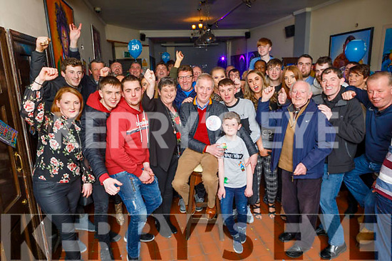 Jeremiah Moriarty from Manor Ave celebrating his 50th birthday in the Sliabh Mish Bar on Friday.