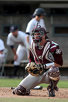 Troy Stein #6 of the Texas A&M Aggies in the field against the Pepperdine Waves at Eddy D. Field Stadium on March 23, 2012 in Malibu,California. Texas A&M defeated Pepperdine 4-0.(Larry Goren/Four Seam Images)